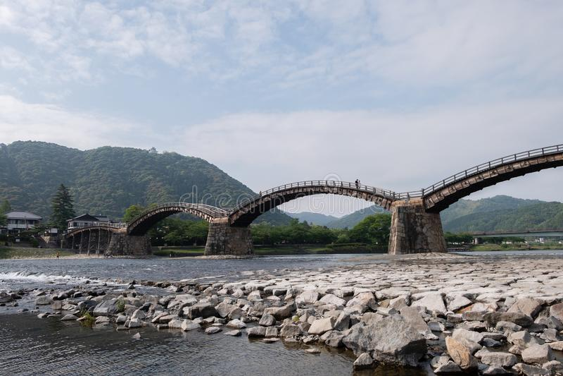 Kintai-Kyo most: Iwakuni, Japonia obrazy royalty free