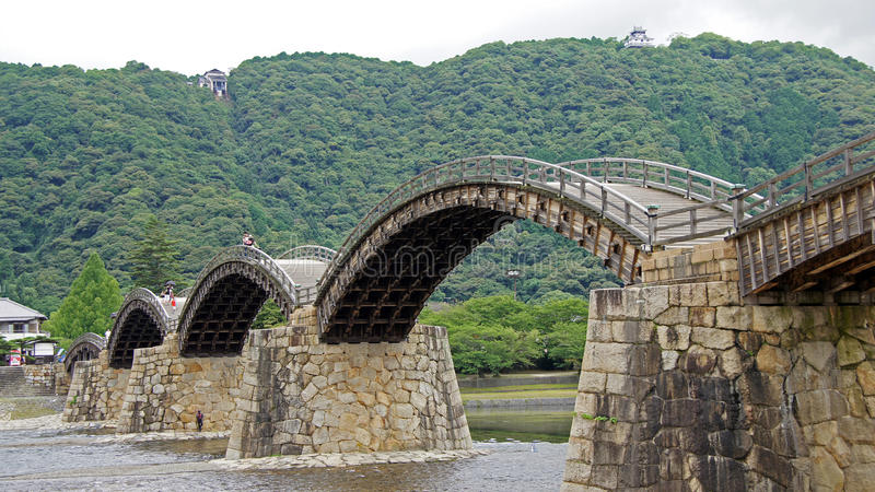 Kintai most w Iwakuni obraz royalty free