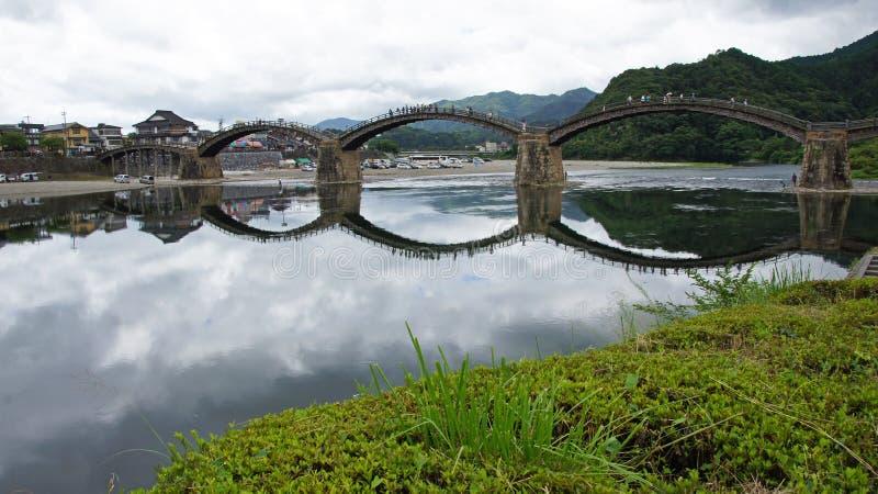 Kintai most w Iwakuni fotografia royalty free