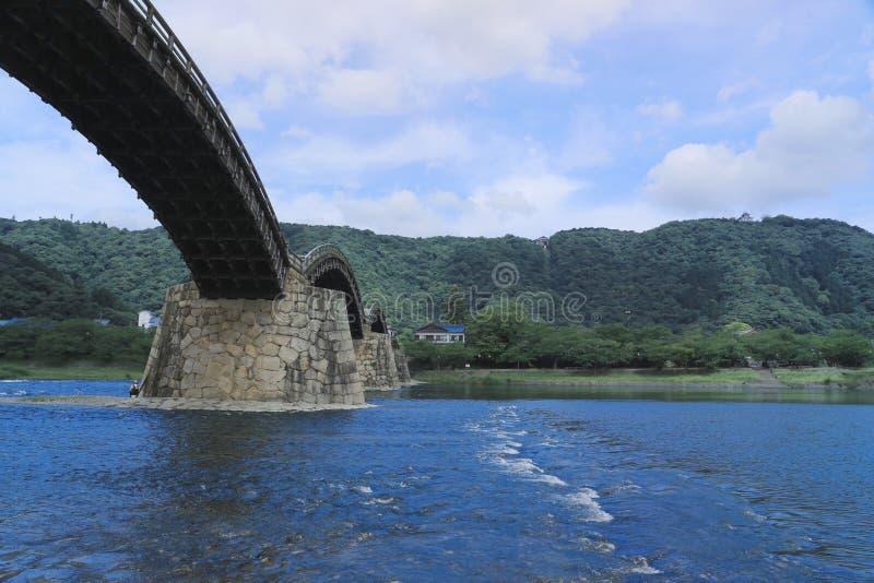 Kintai most w Iwakuni, Yamaguchi zdjęcie stock