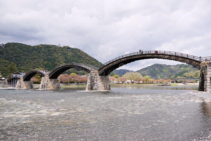 Kintai most w Iwakuni, Yamaguchi prefektura, Japonia zdjęcie stock