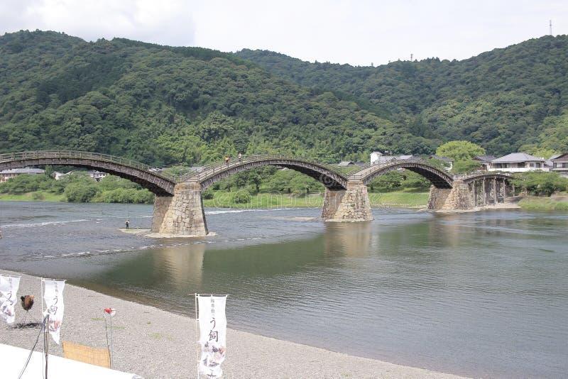 Kintaibrug, één van oudst in Japan stock afbeelding