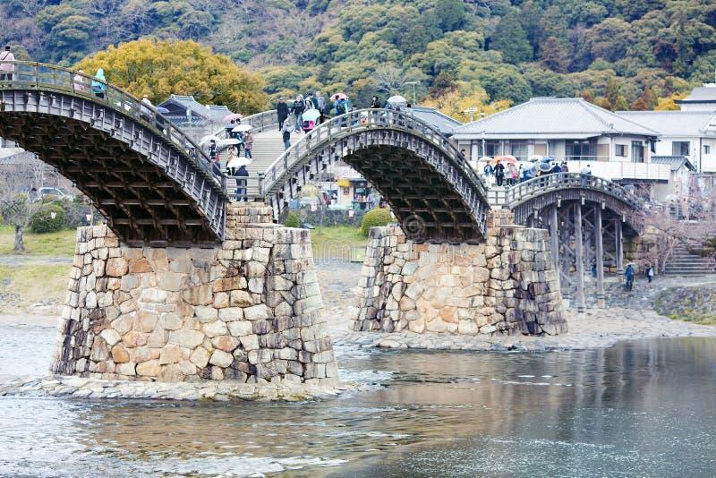 Kintaibrug in Iwakuni stock foto's