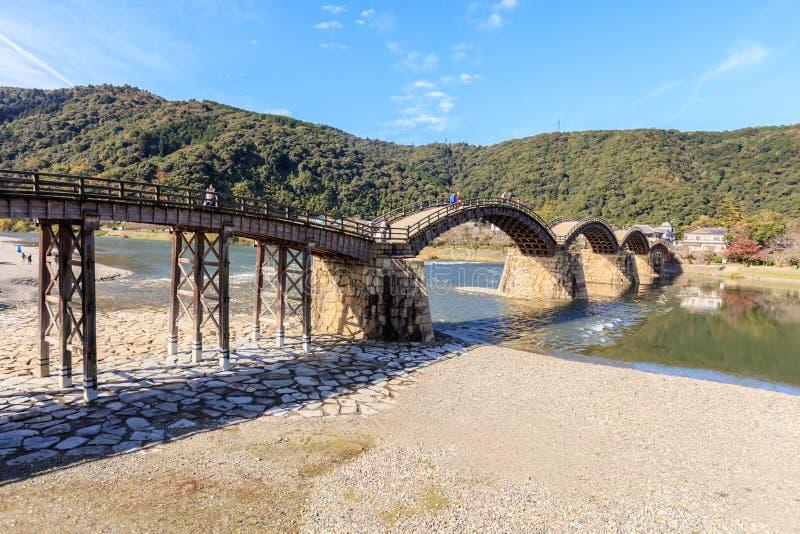Kintaikyo bro i Iwakuni, Hiroshima, fotografering för bildbyråer