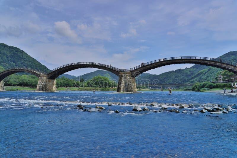 Kintaikyo bro i Iwakuni, Hiroshima arkivfoto