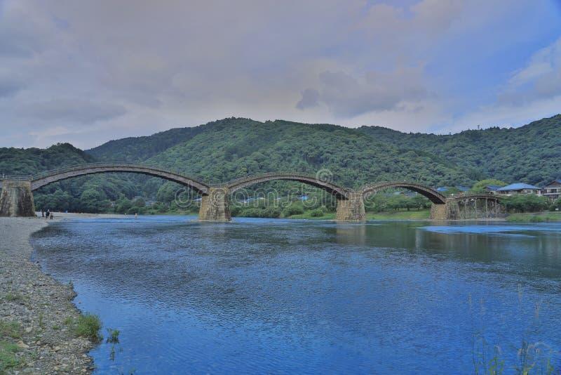 Kintaikyo bro i Iwakuni, Hiroshima, Japan fotografering för bildbyråer