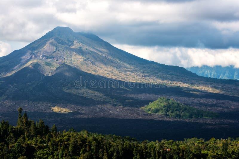 Kintamani Volcano and lake Batur Etna stock photography