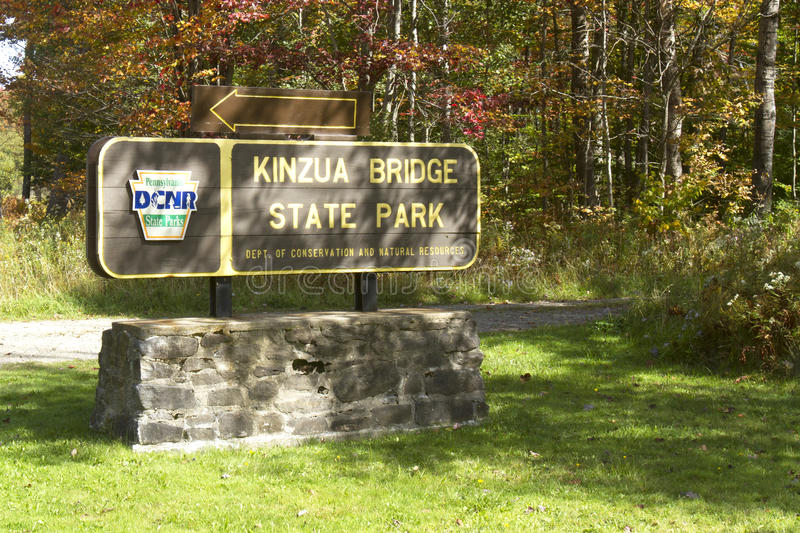 Kinzau Bridge Skywalk and State Park royalty free stock image