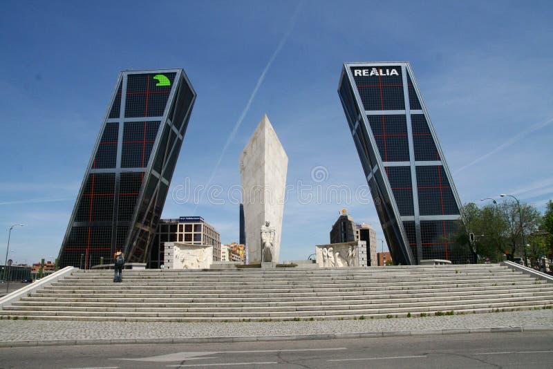 Kio Towers Madrid royalty free stock images
