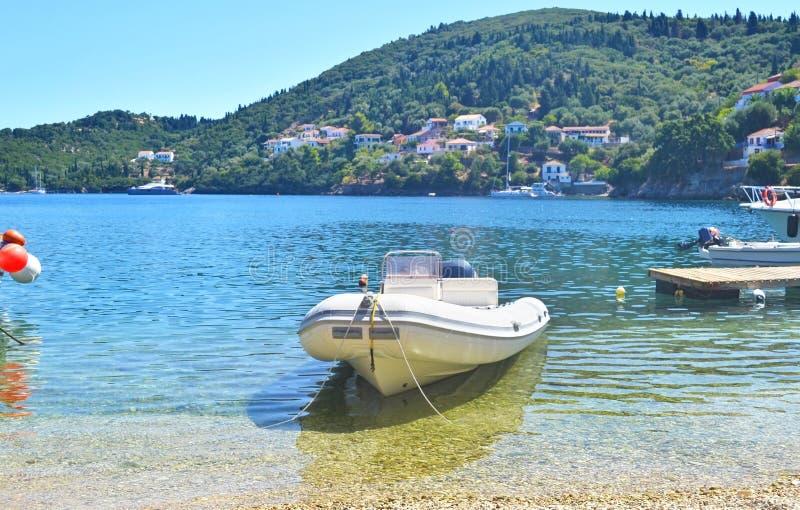 Kioni port Ithaca Greece stock photography