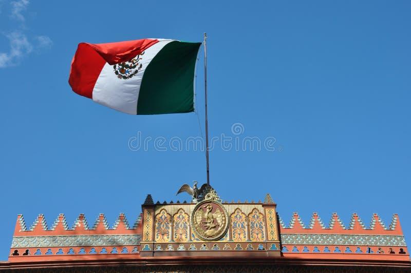 Kiosco Morisco de Santa Maria la Ribera, Mexico - stad arkivfoto