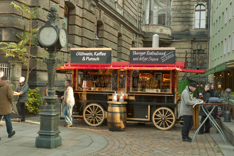 Kiosk with drinks and snacks in Dresden royalty free stock images