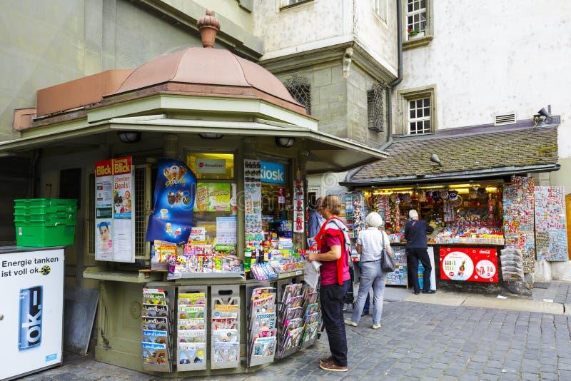 Kiosk i Bern royaltyfri fotografi