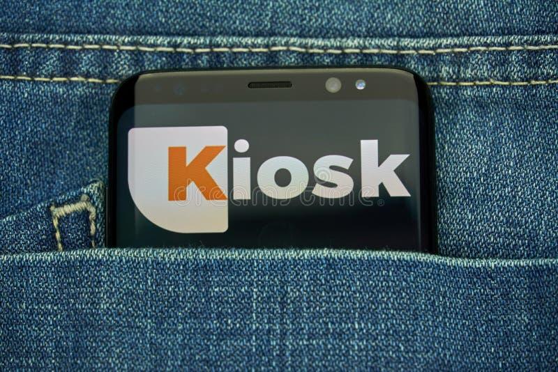 Kiosk Mobile App On Samsung S8 Editorial Photo - Image of