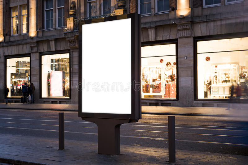 Kiosk. Outdoor kiosk city advertising in Amsterdam stock photography