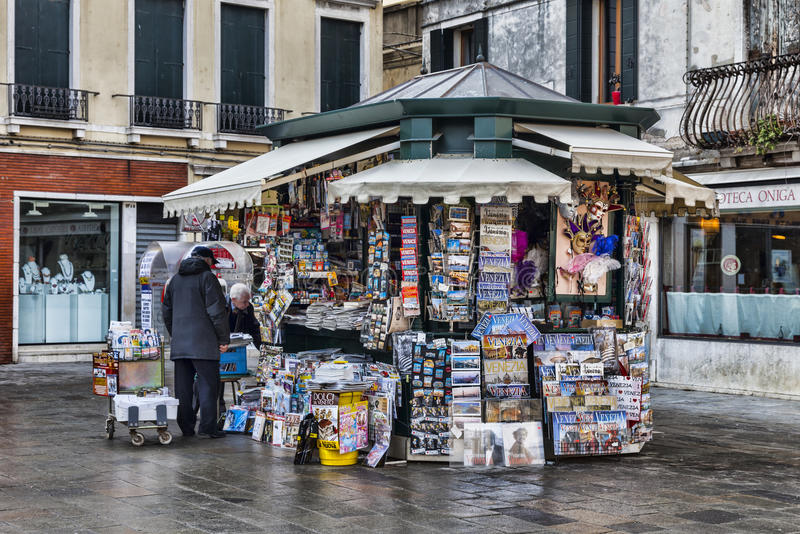 Download Kiosk in Venice editorial photo. Image of tourism, destination - 28645956