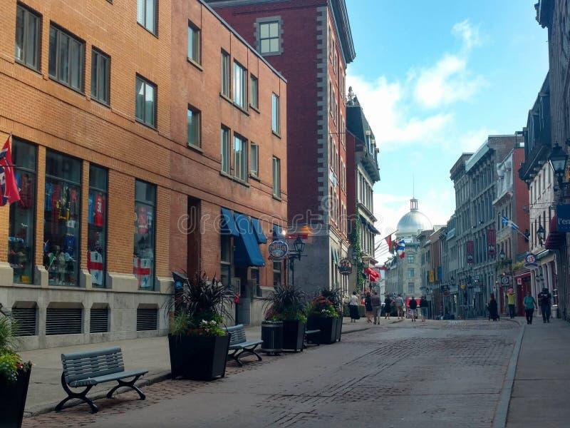 Kiosk W centrum ulica Montreal zdjęcie royalty free