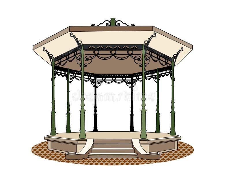 Kiosque à musique romantique illustration stock