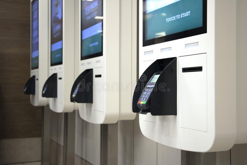Kiosque de paiement photo libre de droits