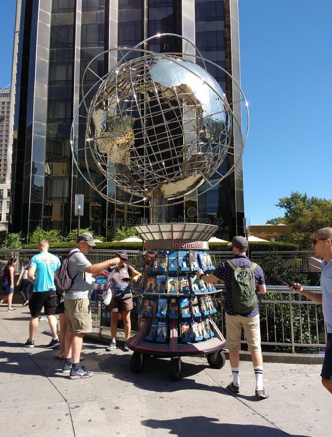 Kiosque de syndicat d'initiative, Columbus Circle, New York City, Etats-Unis photos stock