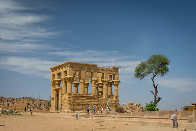 Kiosque de Trajan Temple de Philae images libres de droits