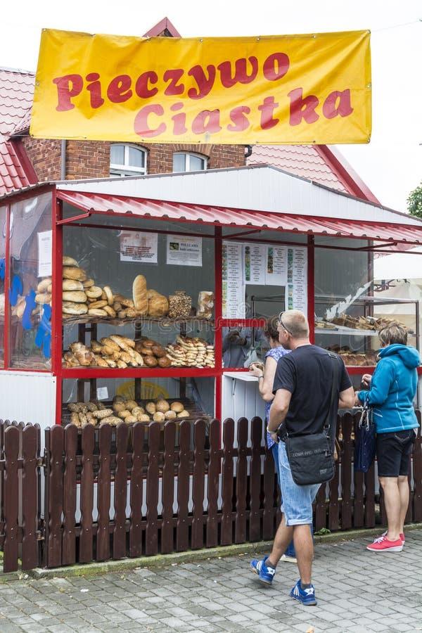 Kiosque Pologne de pain photographie stock