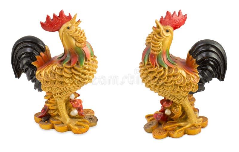Kip die met goud wordt versierd royalty-vrije stock afbeeldingen