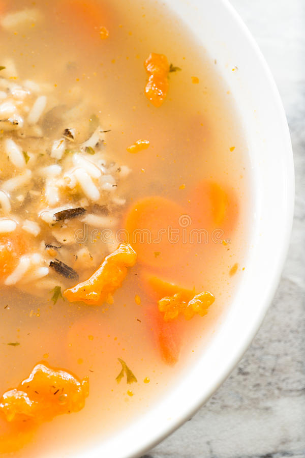 Kip en wilde rijst stock fotografie