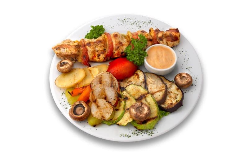 Kip kebab royalty-vrije stock foto's