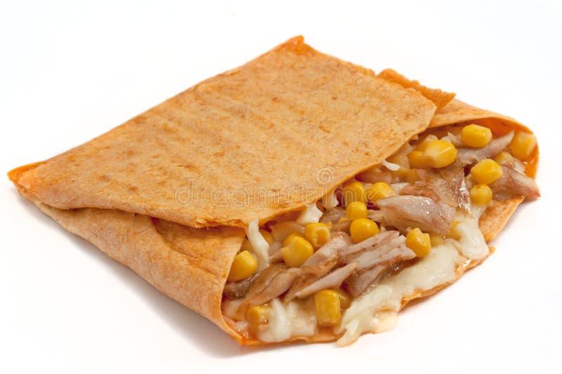 Kip Quesadilla stock afbeelding
