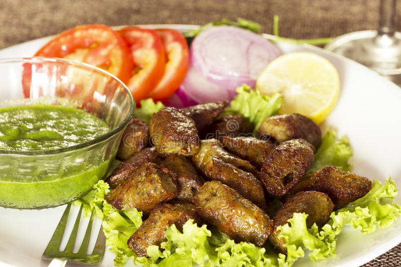 Kip Seekh Kabab royalty-vrije stock foto's