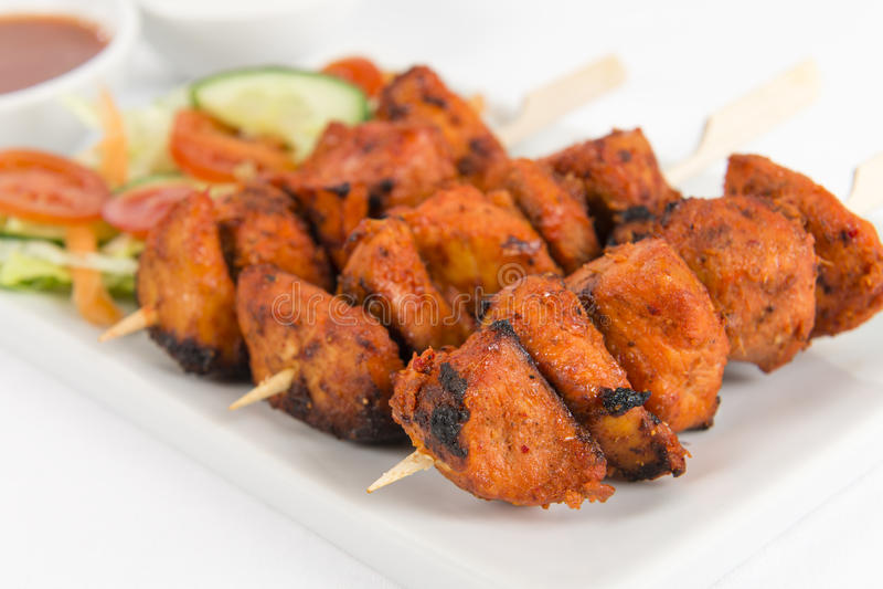 Kip Tikka Kebab royalty-vrije stock fotografie