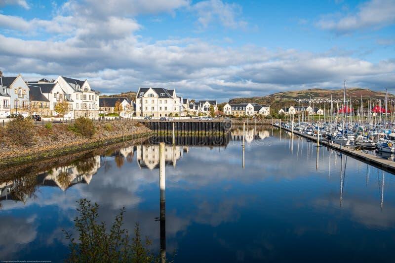 Kip Village & Marina at the end of the Sailing Season in Scotland royalty free stock photography
