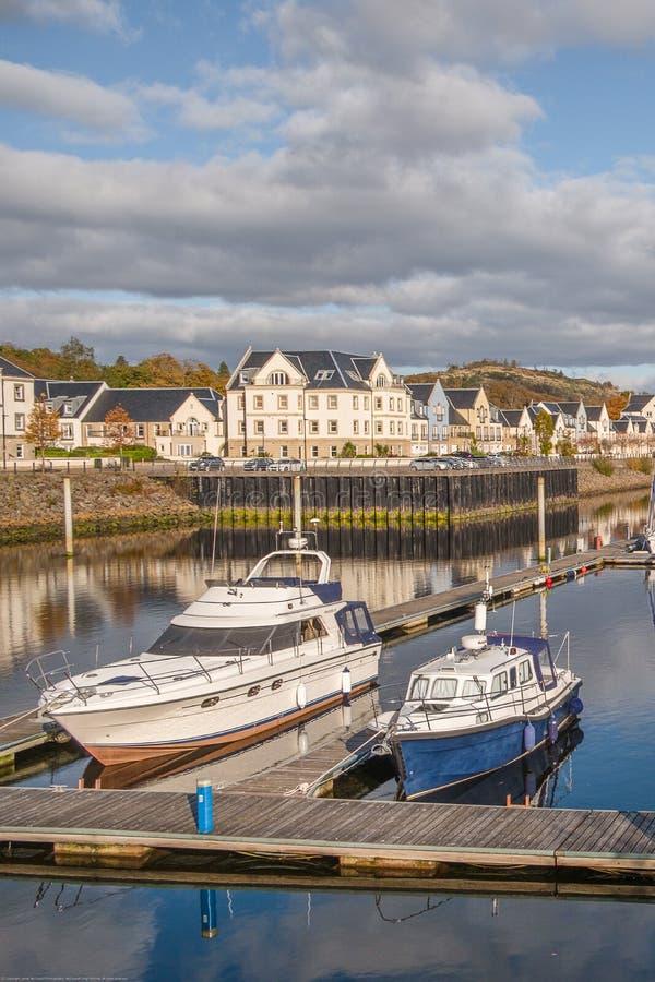 Kip Village & Marina at the end of the Sailing Season in Scotland royalty free stock photo