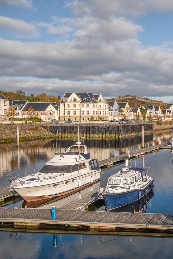 Kip Village and Marina on the West Coast of Scotland royalty free stock images
