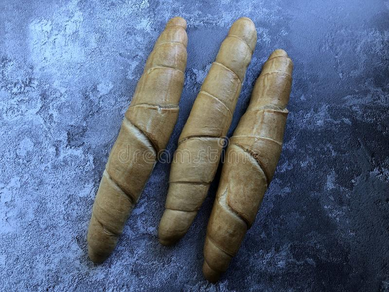 Kipferl is an Austrian bread specialty, crescent-shaped pastry or roll. royalty free stock image