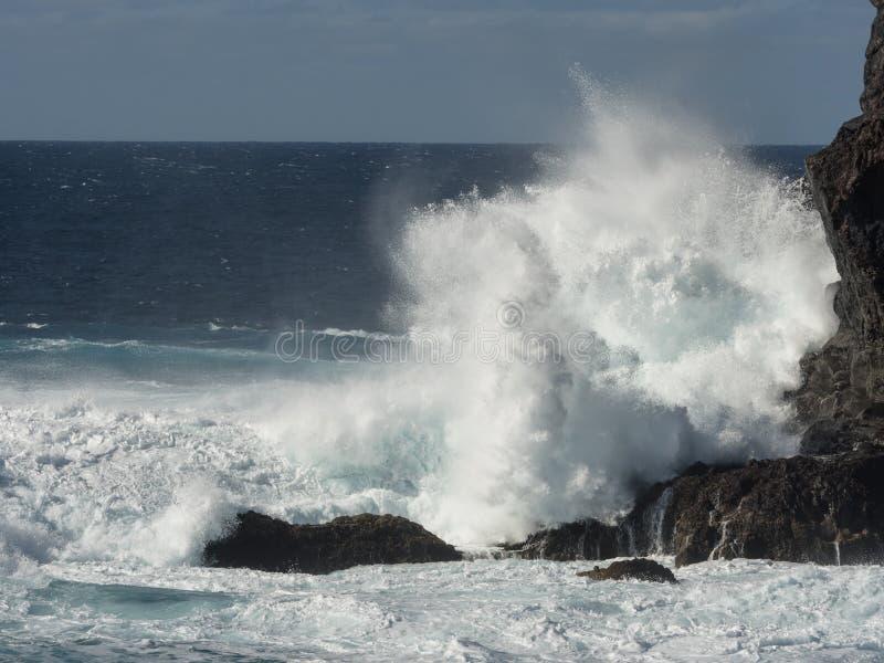Kipiel na Atlantyckim wybrzeżu fotografia royalty free