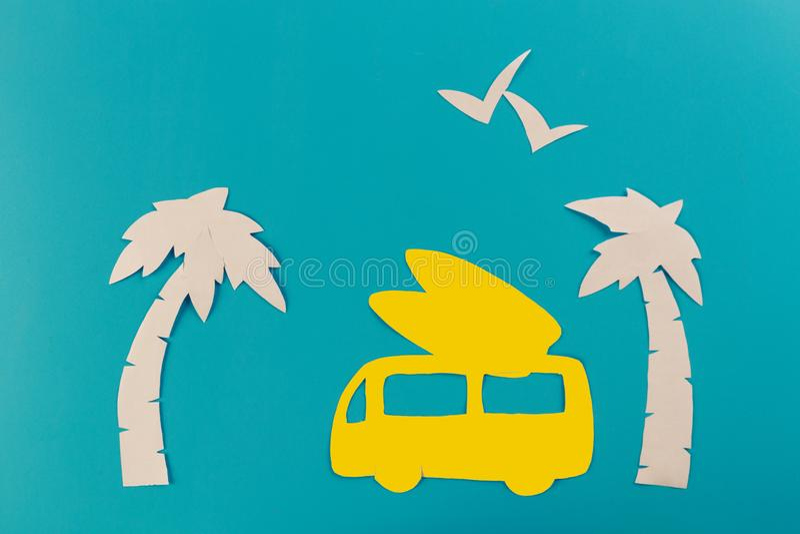 kipiel samochód na plaży obrazy royalty free