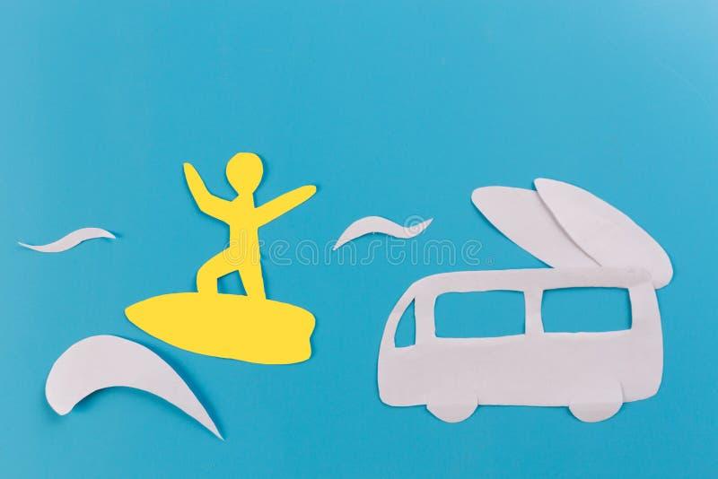 kipiel samochód na plaży obraz royalty free