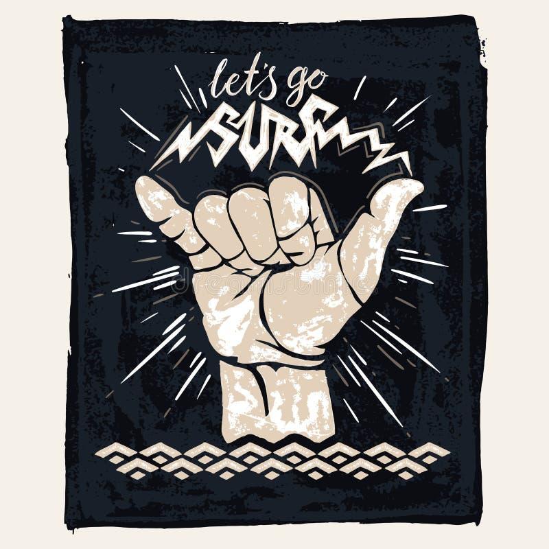 Kipieli ręki znak ilustracji