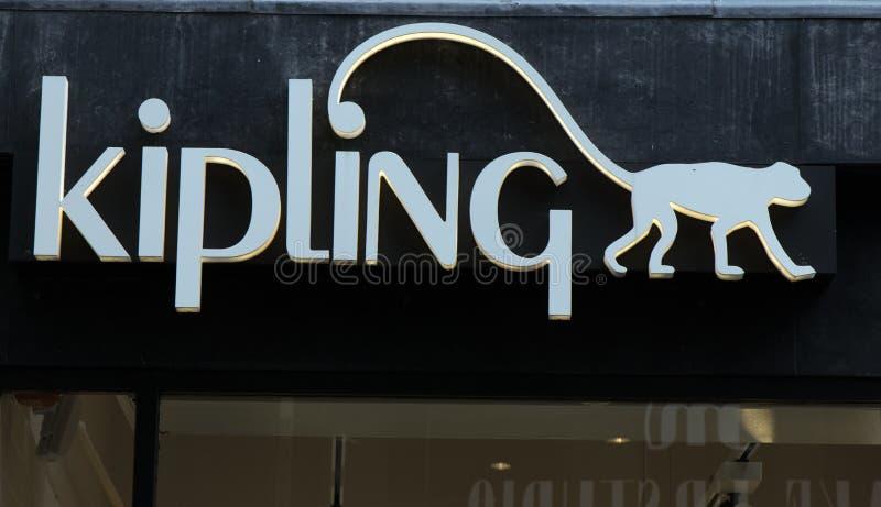 Kipling en una pared en Amsterdam imagen de archivo