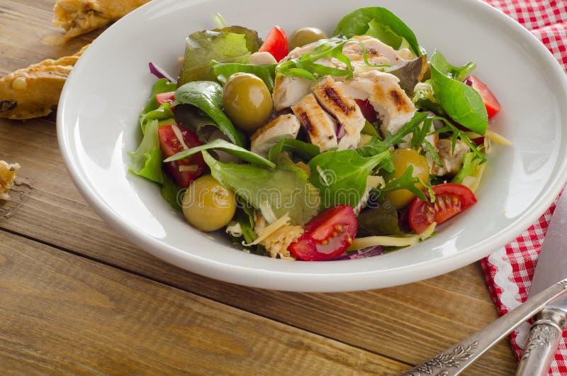 Kippen verse salade royalty-vrije stock foto's