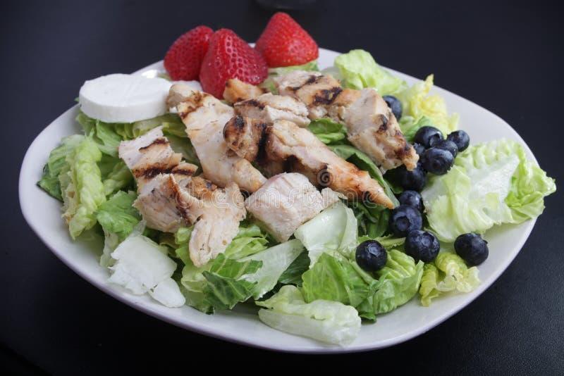 Kippenfruitsalade stock afbeelding