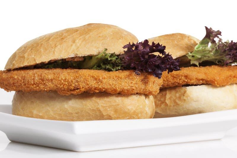 Kippenhamburger, Sandwich stock foto