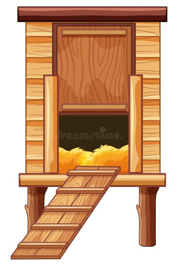 Kippenkippenren van hout wordt gemaakt dat vector illustratie