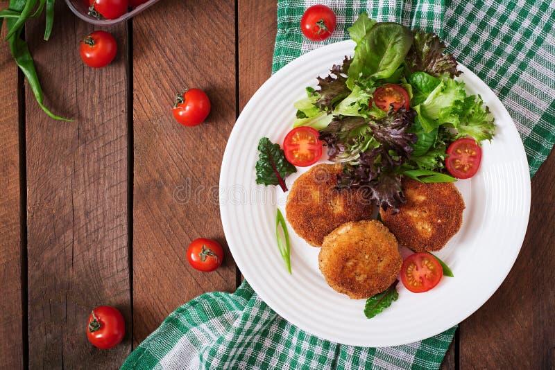 Kippenkotelet met groenten royalty-vrije stock afbeeldingen