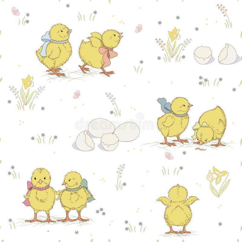 Kippenpatroon royalty-vrije illustratie