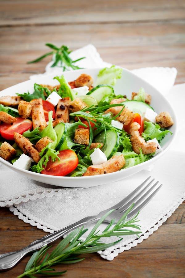 Kippensalade stock foto