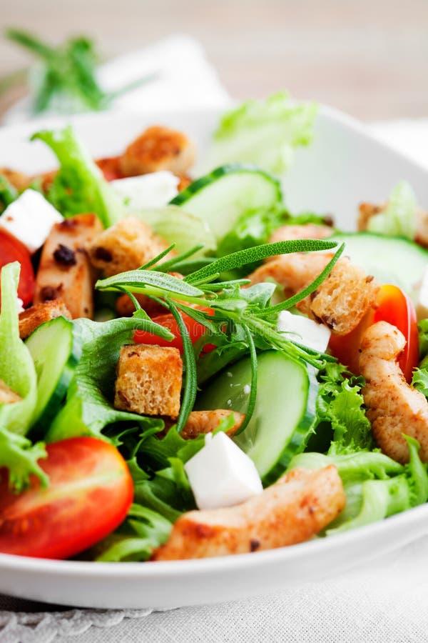 Kippensalade stock afbeelding