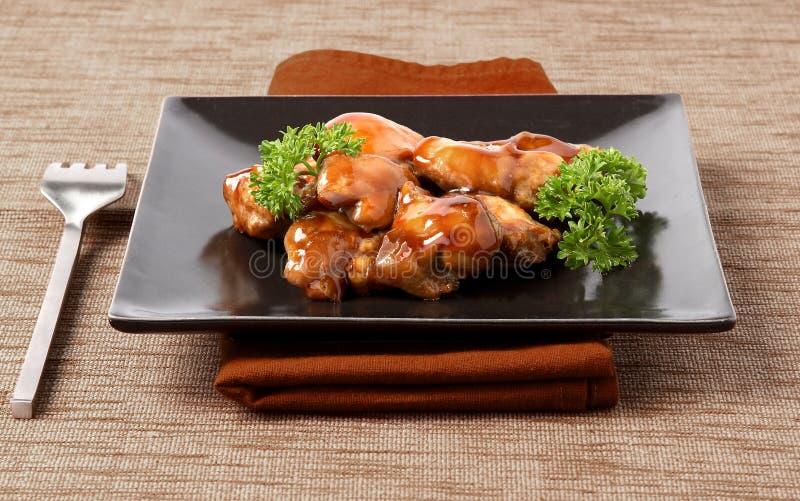 Kippenteriyaki, Japans voedsel stock fotografie